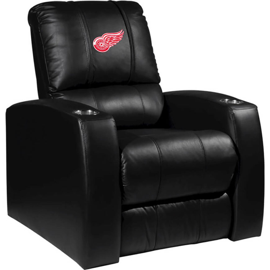 sports fans would do well to check out the vast array of team emblazoned options - Home Theater Furniture Houston