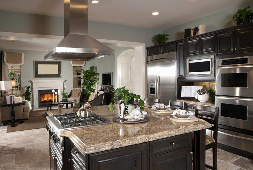 Delightful Elegant Color Combinations Paint This Kitchen With A Timeless Appeal, From  Light Granite Countertops To