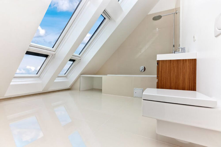 Skylight Windows In Attic Bathroom