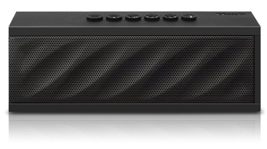 This wireless speaker is designed with Bluetooth functionality to deliver music and voice calls from your smartphone in a completely seamless fashion. You can start up and play your music from anywhere in the house, and even make and receive voice calls through the speaker, with its built-in microphone.