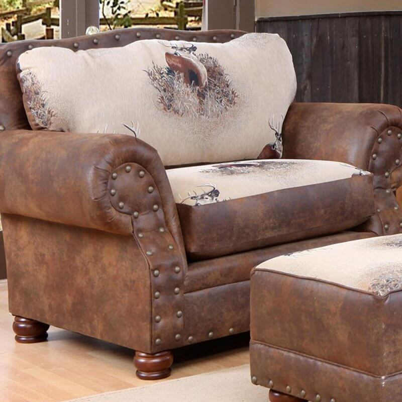 This big cozy chair and a half is perfect for the huntsman. With a & 25 Best Man Cave Chairs