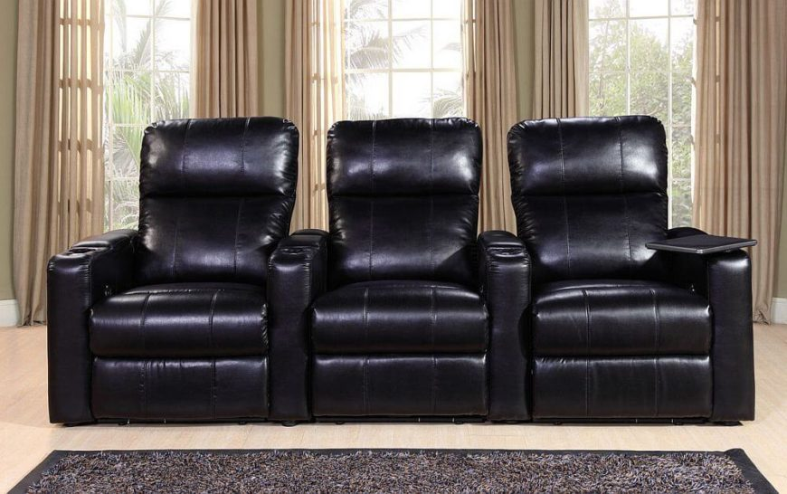 This Stylish Microsuede Home Theater Seating Is A Feature Packed Addition  To Your Man Cave