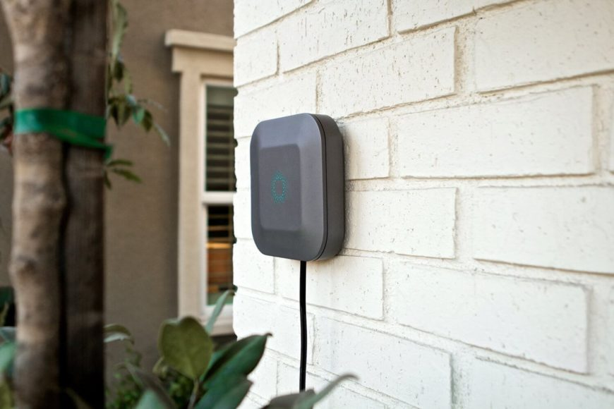Blossom is all about controlling your sprinklers from anywhere, using smart technology to water your landscape as efficiently as possible. With an accompanying smartphone app, you'll be able to monitor and control water usage from anywhere in the world, setting different waterings for different yard zones.