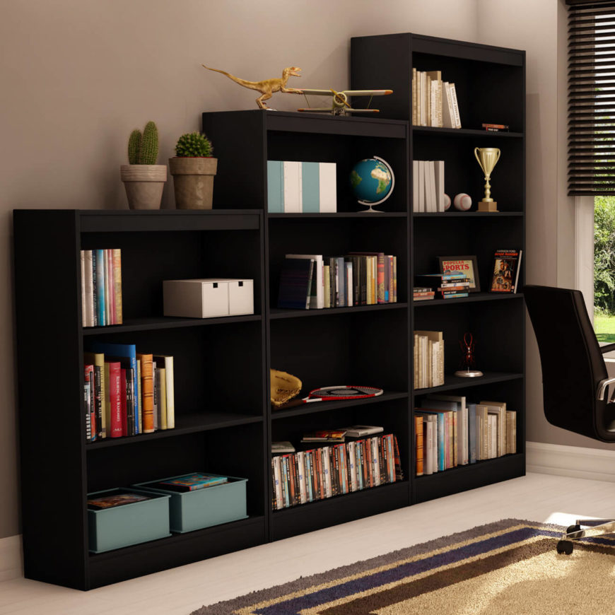 Maybe your man cave isn't all about the stereotypical trappings of sports. Maybe it's your private space to relax and indulge in a good book in an elegant setting. If so, you might want to take a look at a gorgeous but simple bookshelf like this. With large shelves able to fit nicknacks, memorabilia, artwork, and of course books themselves, it's a truly useful piece of furniture for the man cave.