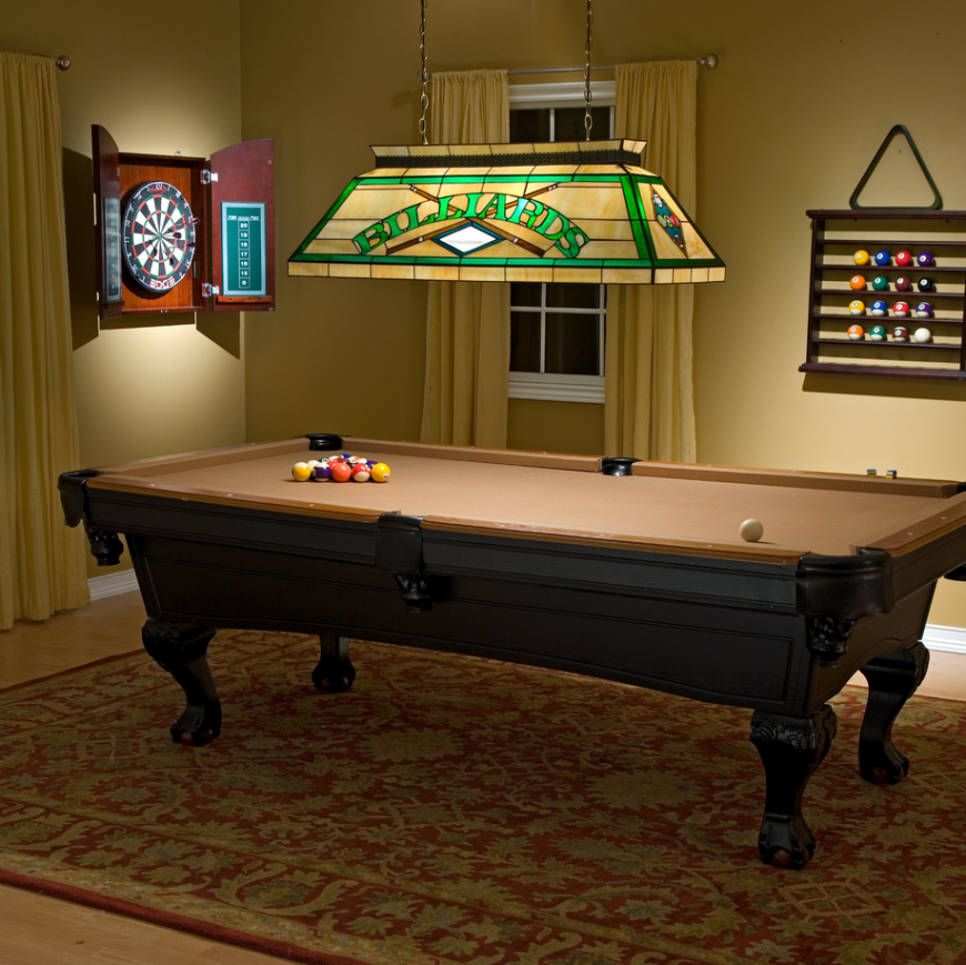 One of the most classic and classy items you could place in any man cave is the venerable billiards table. These have been a pub staple for dozens of decades, adored for their versatility and sumptuous looks. If you've got a billiards table - and that's a very personal thing you should take your time with - you will absolutely need to light it properly. This lamp gives your man cave that classic pub feeling, with stained class and the perfect size to illuminate an entire game of pool. The great thing is, it can even double as an island light, if you're more interested in serving drinks and food than 8 balls to the corner pocket.