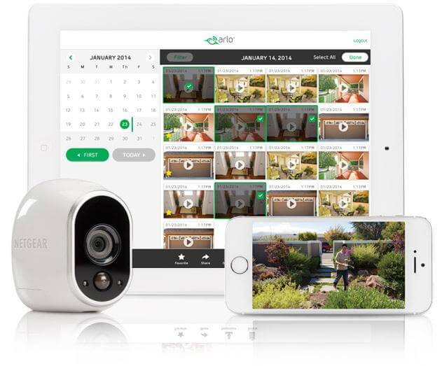 This is an indoor/outdoor wireless camera system designed to seamlessly integrate a security system into your home environment. The weatherproof and uniquely styled camera uses motion detection, night vision, and an accompanying app to give you total visual command of your home. It will capture and save video clips and alert you via smartphone or computer whether you're home or away.