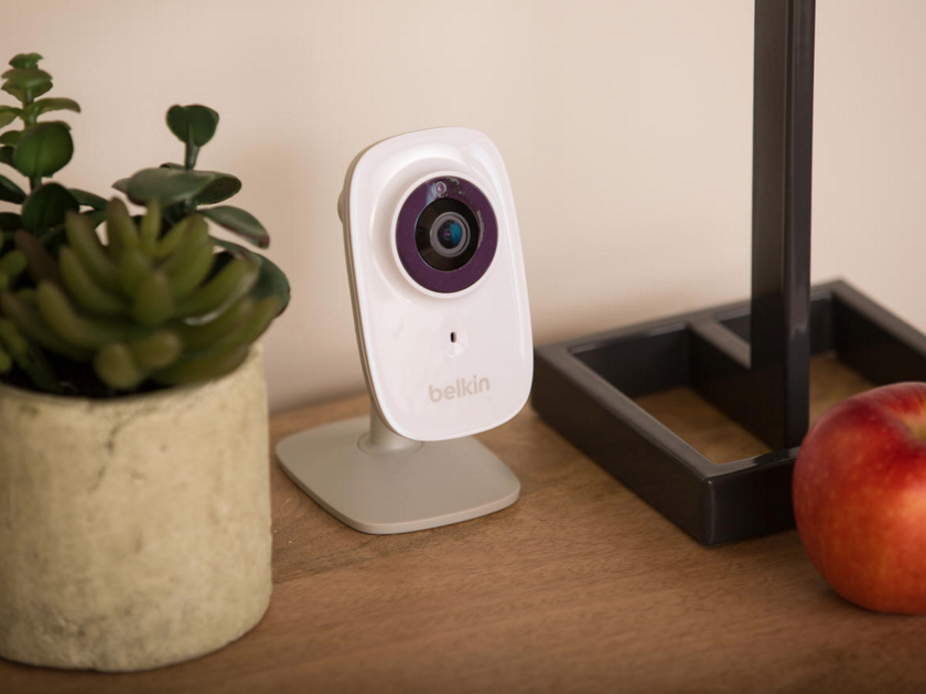 This handsome little smart home camera seamlessly integrates with an existing WeMo smart home ecosystem, which connects all of your smart devices with a central hub to allow full command of every facet of your home. The camera itself includes night vision, a wide-angle lens, infrared cut-off filter, and more. With its motion detector, you'll be alerted to any unexpected presence in your home while away.