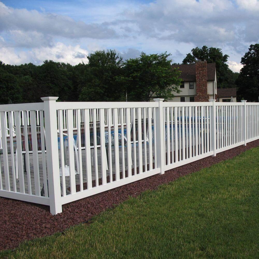 Flat Top Vinyl Fence