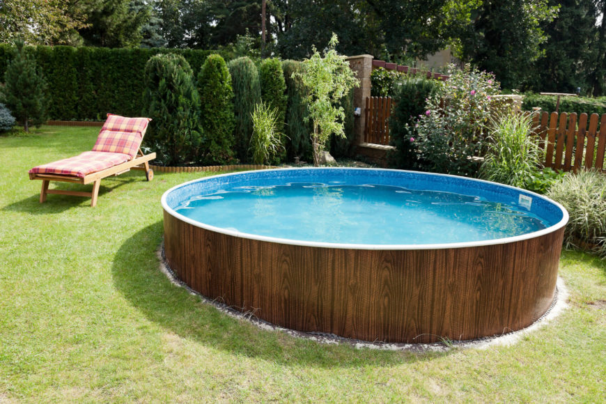 the pool with the deckchair - Outdoor Backyard Pools