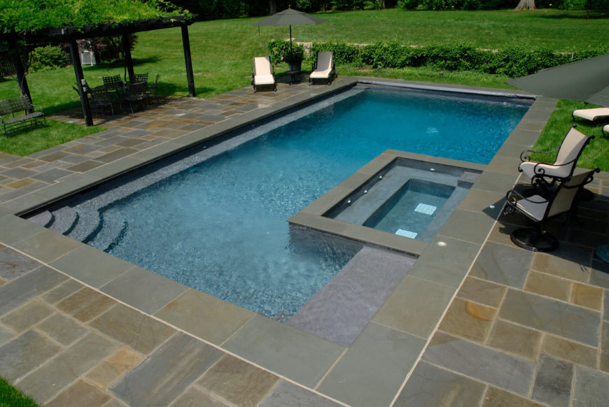 Backyard Pool Design Ideas exterior design small backyard pool pictures small backyard pool design small pool designs simple Geometric Swimming Pool Stock