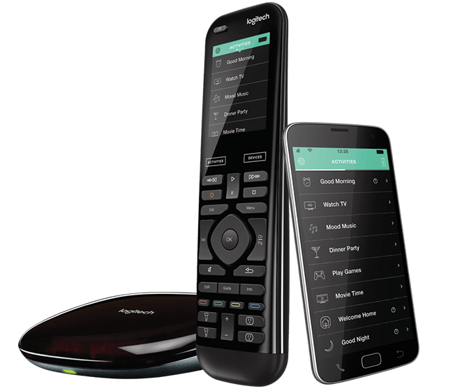 This smart home remote allows you to use either your smartphone, with an included free app, or the remote itself for one-touch control of the entire home entertainment system and your smart home ecosystem. You'll be able to command devices like the Philips Hue lights or Nest learning thermostat with an easy to use remote. When paired with the Harmony hub, you'll be able to control devices that are hidden away in cabinets or behind walls, even including game consoles.