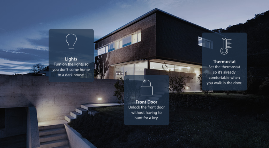 """It works by creating """"scenes"""" to connect and control your smart home appliances in different combination. This means that simple one-touch interactions can perform a suite of functions in your home."""