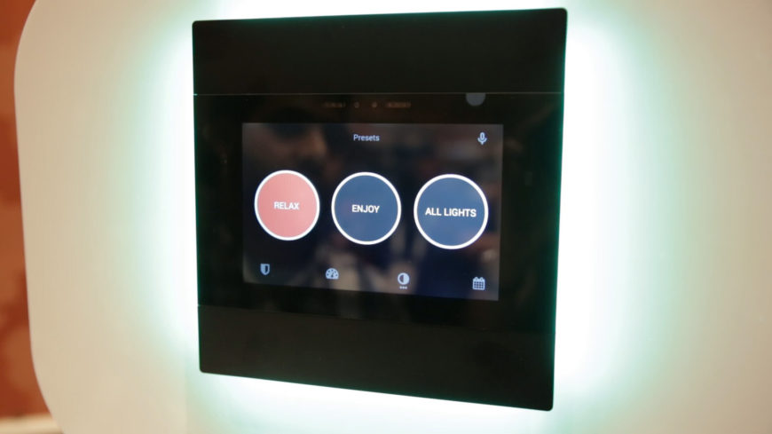 Unlike any other smart home device, Umbrela uses HomePlug technology, allowing it to establish a network using your home's existing electrical wiring. You won't need to drill holes or install wires to set it in motion. You'll be able to stream video and data to any part of the house, which is not possible using standard wifi. The device integrates all elements of your smart home into a single experience, allowing for a complex set of features to be controlled simply and directly. With a network of microphones included, you'll be able to command Umbrela using your voice, operating devices throughout the entire home.