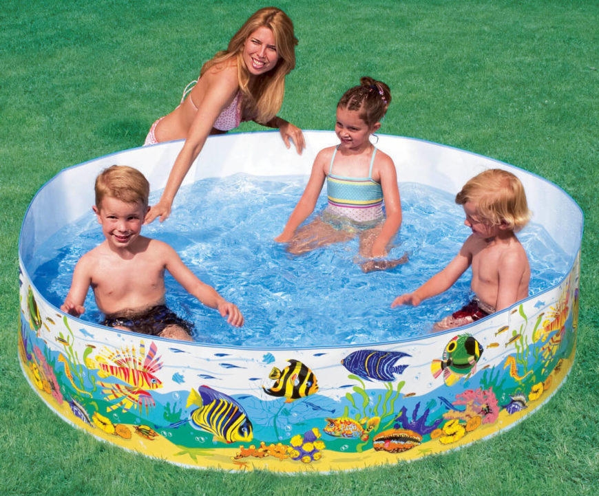 This Is A Colorful Snapset Pool It Has Soft Sides And Can Hold Great