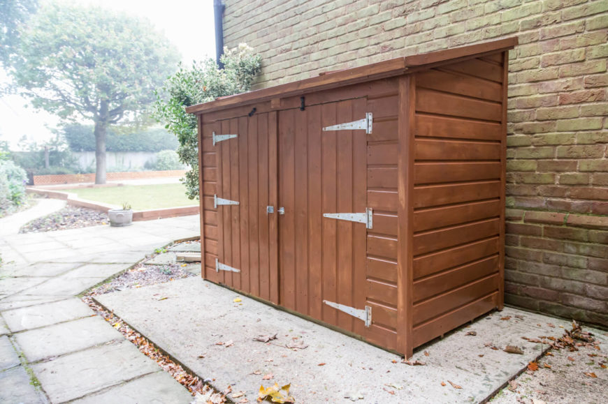 For those with smaller yards, these vertical cedar cabinets provide much needed storage without taking up precious backyard space.