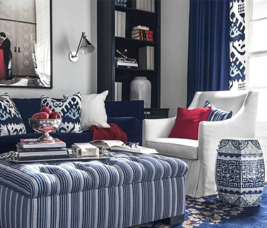 Red Color Schemes Living Room: Best Living Room Colors For 2019