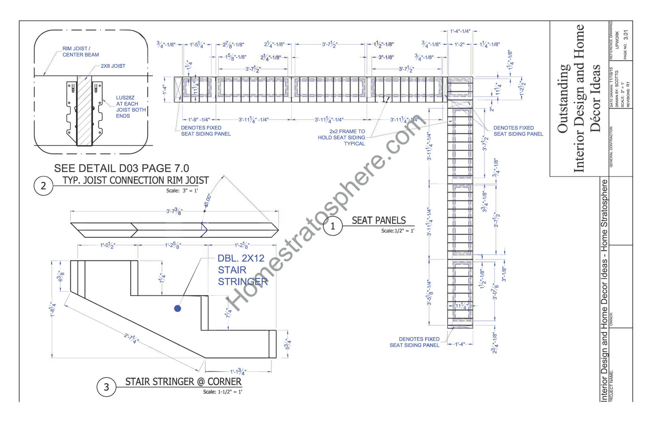 Stair Plans for Deck