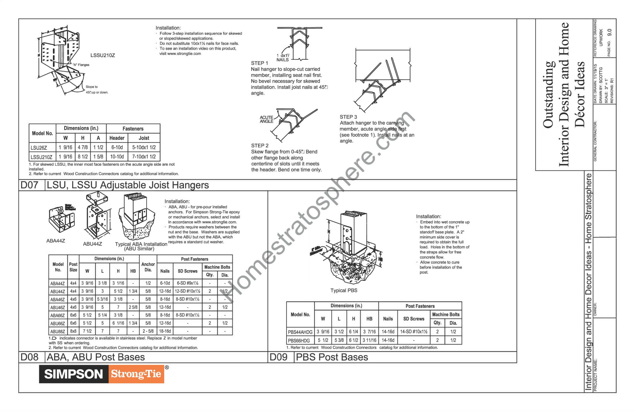 General Notes, Materials and Checklists for Deck Design 3