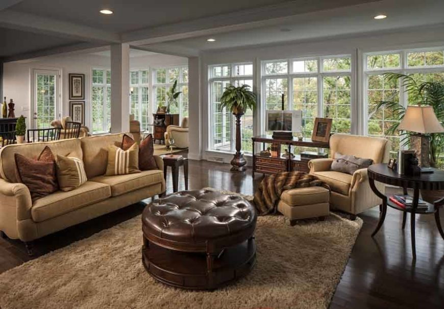 Living Rooms With Ottomans