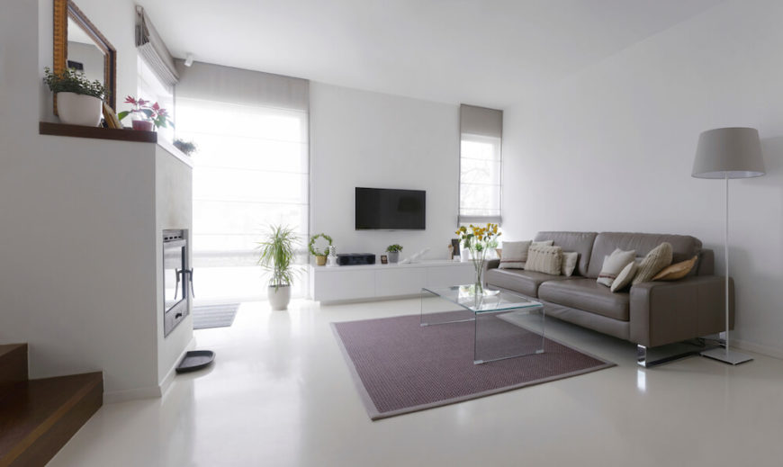 This Living Room Is Very Sleek With A Modern And Clean Design The Floor