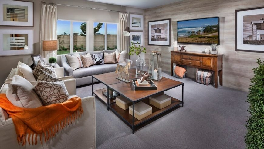 Here Is A Lovely Grey Carpet That Works Well With This Toned Down Color  Palette.