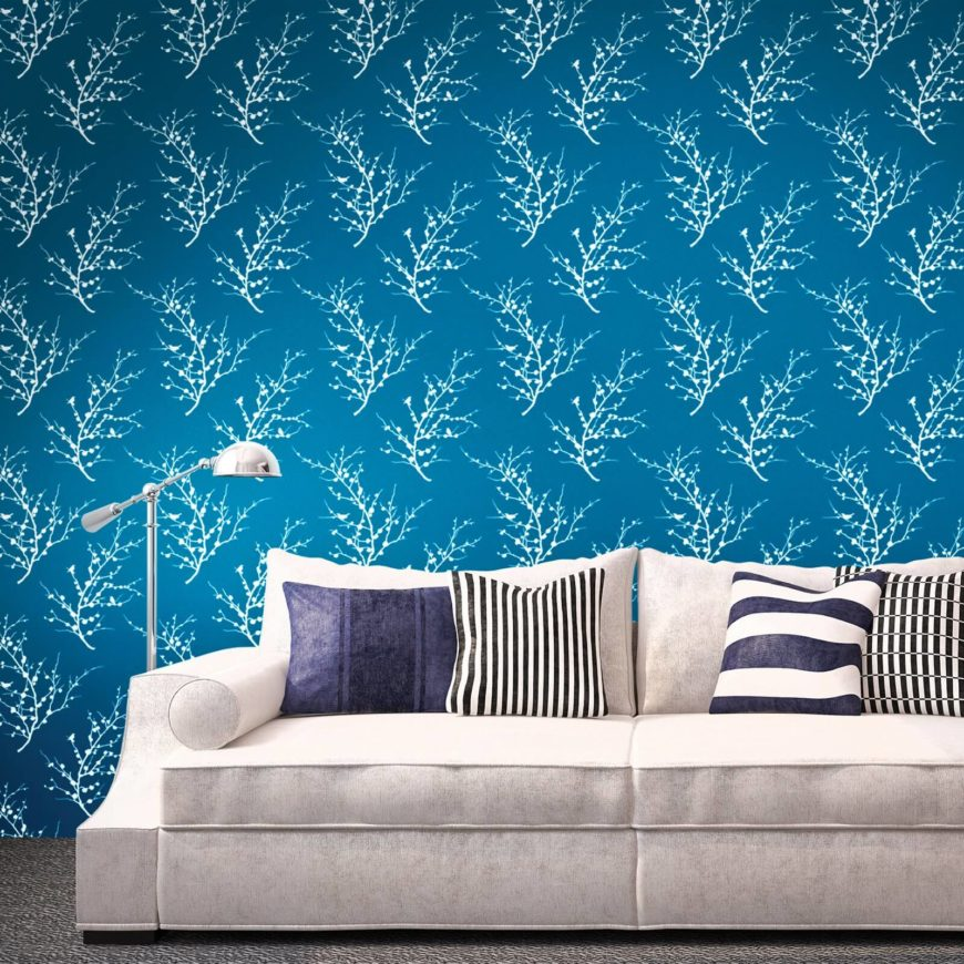 Here is an amazing and interesting wall paper that can illuminate any design it's paired with.
