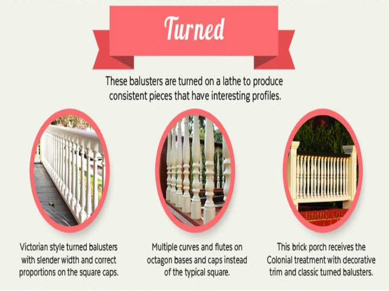 Infographic on turned railings. Courtesy of Mountain Laurel Handrail.