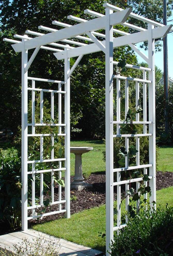 This Is A More Modern Example Of An Arbor, With A Non Traditional Lattice