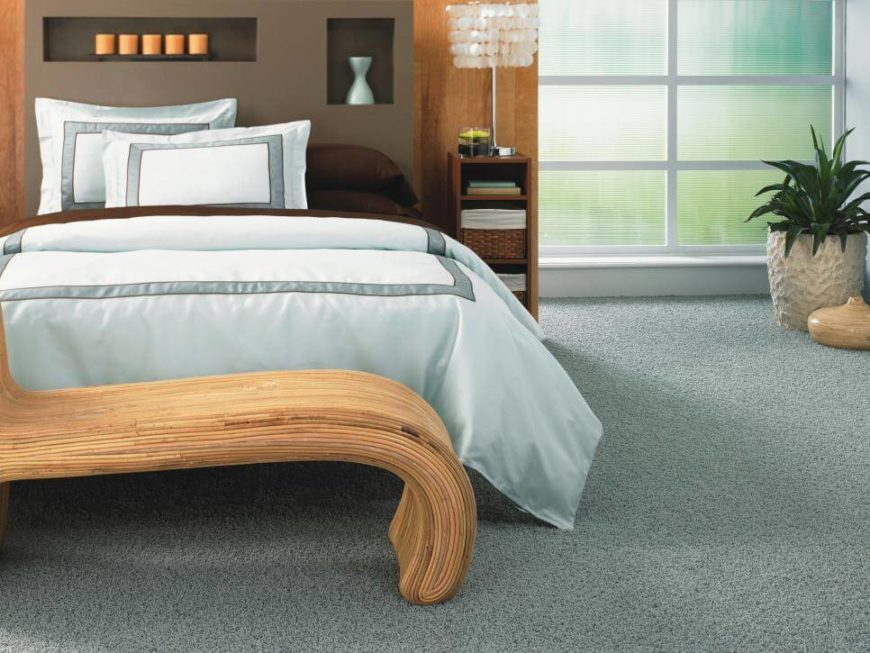 Unlike your standard carpets seen in homes and businesses worldwide for decades, SmartStrand is a refreshing change of pace that offers a step into the environmentally friendly future. It's crafted with corn as a fundamental ingredient, processing extracted sugar into a key component of the fabric. This is spun into the SmartStrand fiber itself and tufted into beautiful carpet. The result is a highly durable yet totally natural carpet that's perfect for families with young children and pets. The carpet is soft and stain protected as well, for a truly winning mixture.