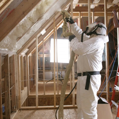 We all know that insulation is an important aspect of keeping your home both comfortable and energy efficient. What you might not know is that there are new and improved options for making your home much more environmentally friendly. Enter Icynene. This spray-on foam insulation is made from castor oil, and can be simply sprayed onto walls and ceilings at a paint-level thickness. Once it's attached to the surface, Icynene expands to nearly 100 times its volume, creating a sponge-like substance that results in a thick blanket of insulation. The substance seals air leaks, stopping drafts and muffling noise. It will also prevent mold from forming, a healthy bonus. Because it's so air-tight, you'll need a complementary ventilation system.