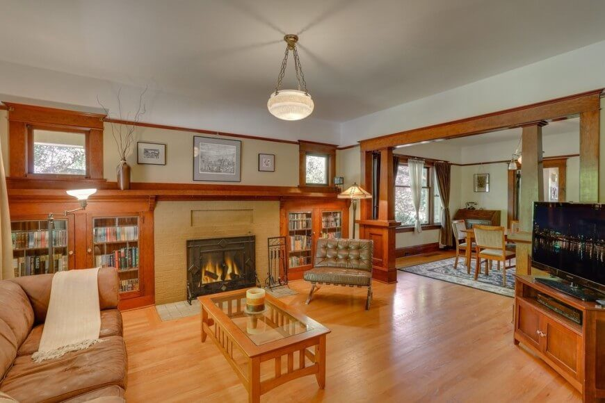This Craftsman Living Room Is A Beautiful Example Of Style You Can See The
