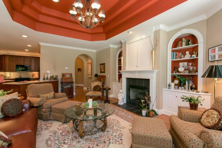 tray ceiling living room 60 fantastic living room ceiling ideas 14603