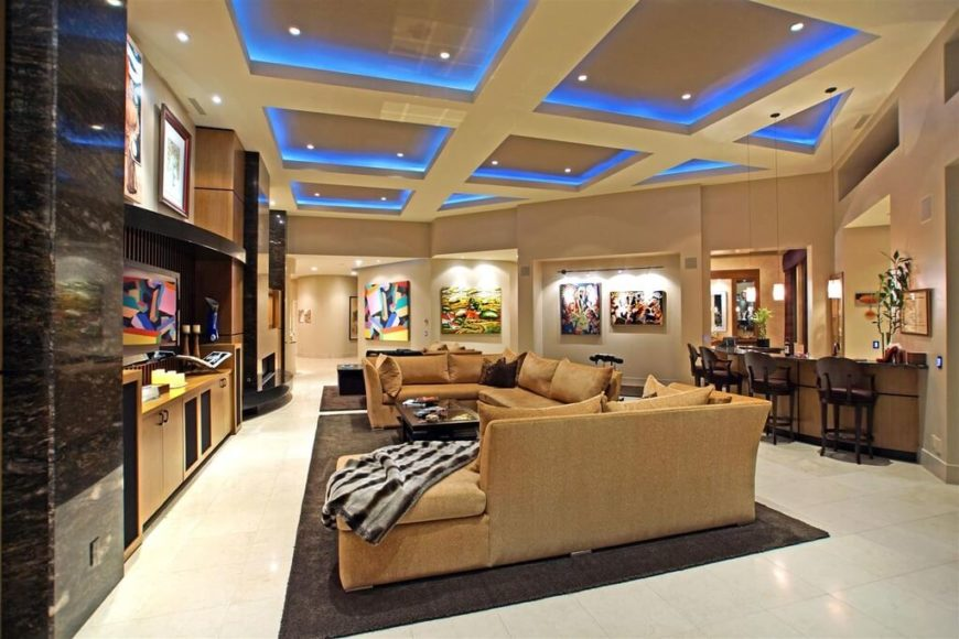 This Living Room Has A Number Of Different Lighting Elements All Working  Together. There Are