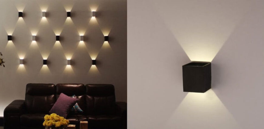 here is a sconce lighting fixture that shines its light down as well as up - Wall Light Fixtures For Living Room