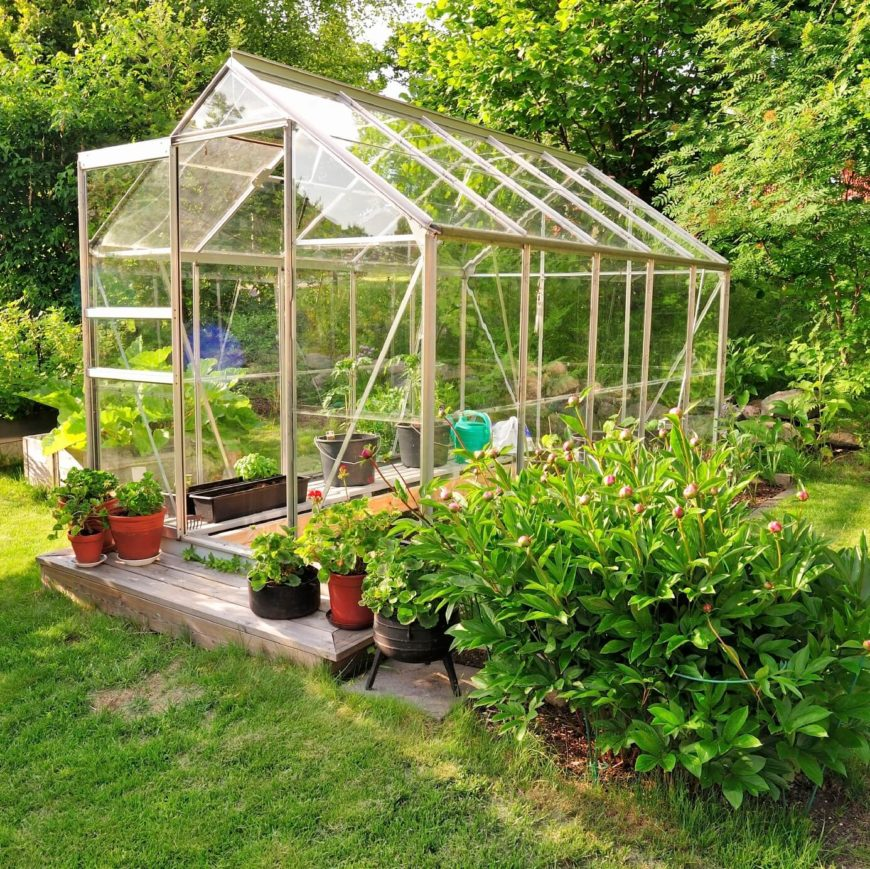 Backyard Vegetable Garden Design A greenhouse is a great tool in a vegetable garden if you have the room for