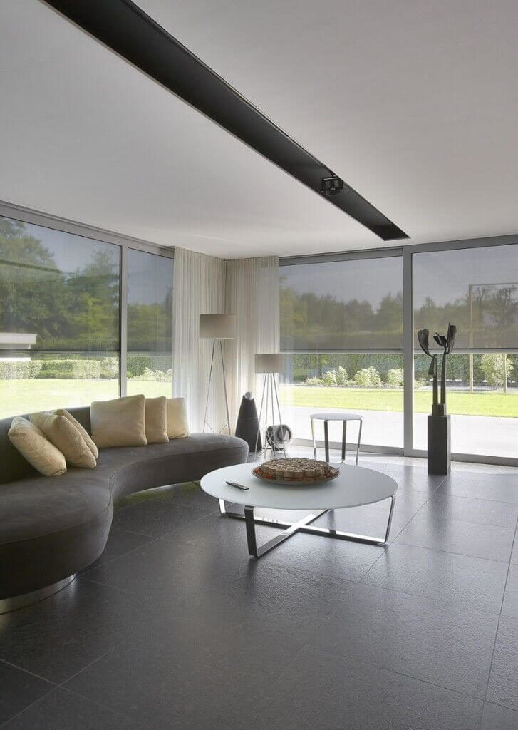 A standard and simple ceiling can be enhanced with a simple feature. This  ceiling has