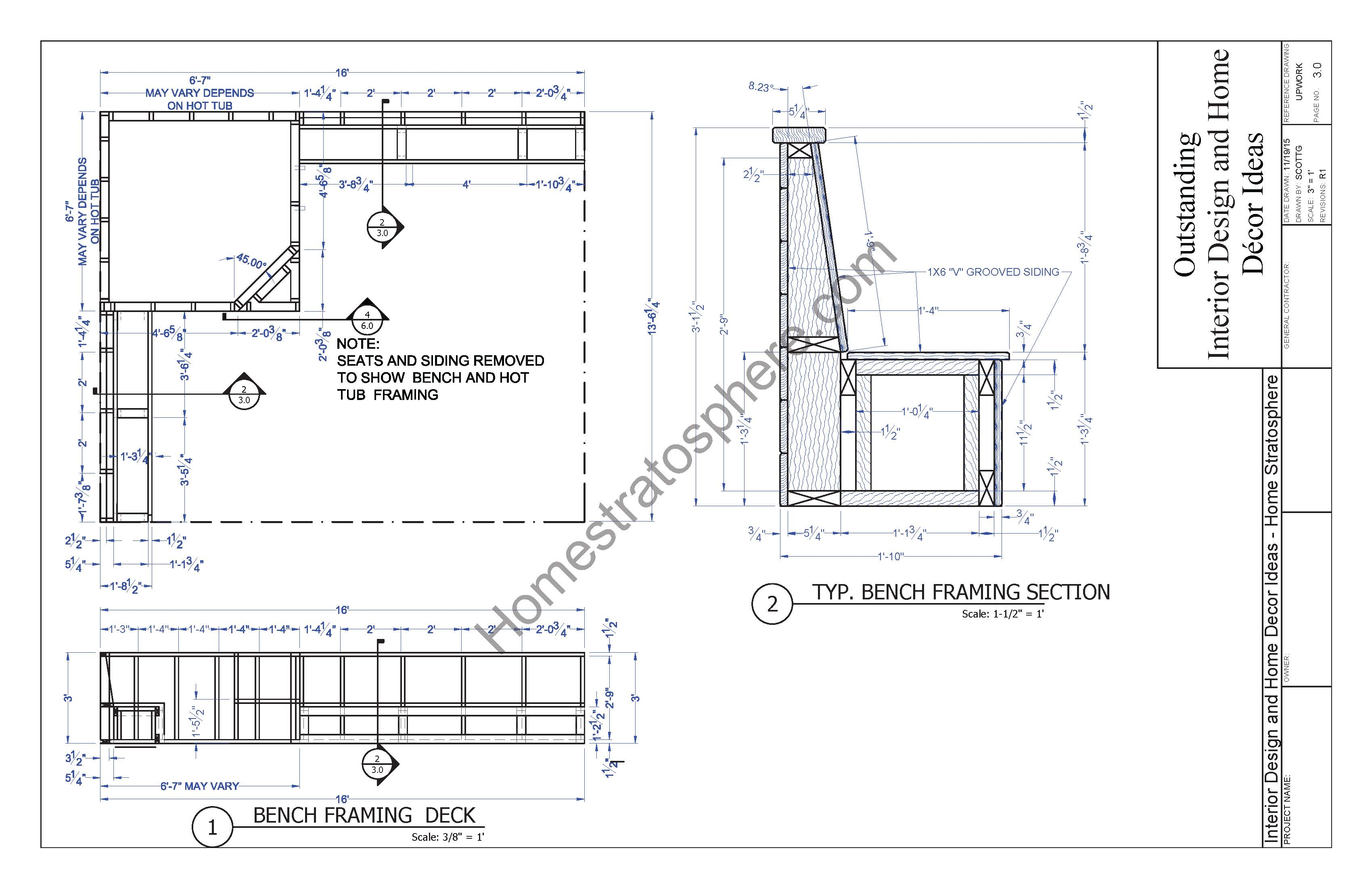 Dimensions of hot tub deck