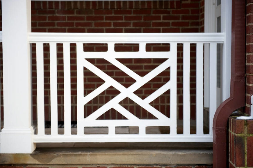The intricate designs of a Chippendale railing can really make a stunning impression on your visitors. A little extra expense and you'll get a whole lot of curb appeal.