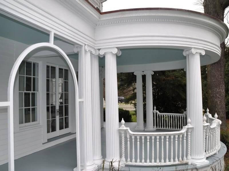 Although these turned spindles aren't all exactly the same, they still demonstrate the classic beauty of columns and fluted spindles