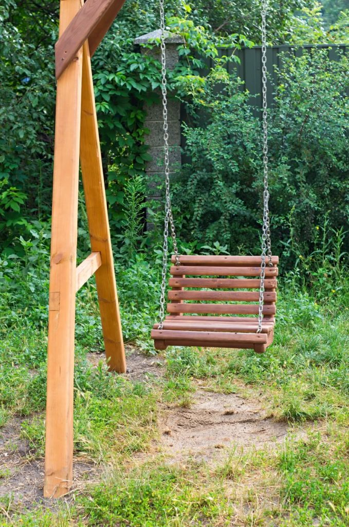 If your wooden frame is larger and your swing seats are smaller, you can fit multiple seats on the frame. Singular swing seats can be as relaxing and welcoming as the longer bench style seating.