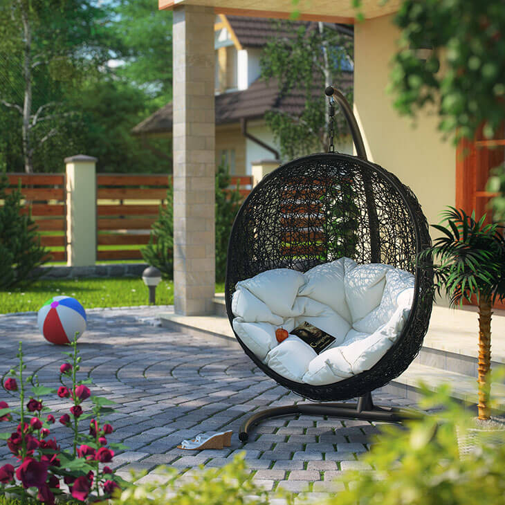 An Oval, Egg Shaped Swing Is A Design You Donu0027t See Too Often