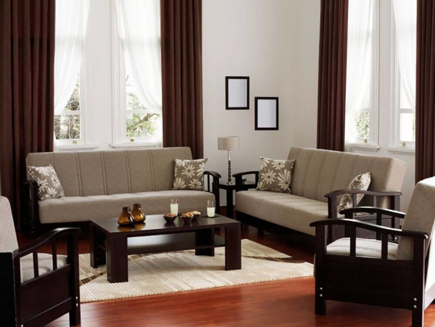 Wonderful In This Living Room There Is A Simple And Elegant Color Palette With  Matching Minimal Sofas