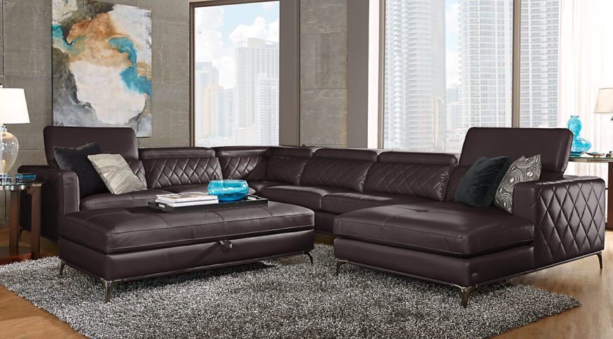 Many Sectional Sofas With An Attached Chaise Lounge Have Only Two Sections.  This Sectional Has