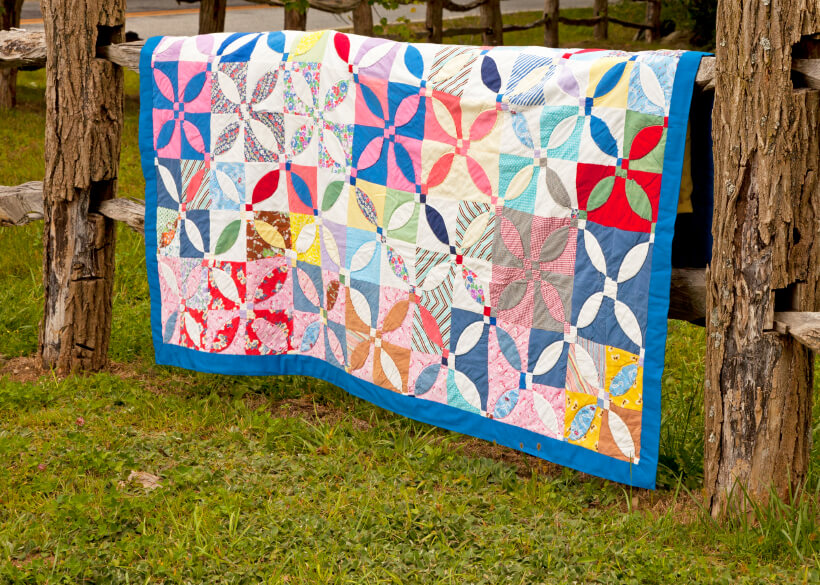 organize your quilts with a stand