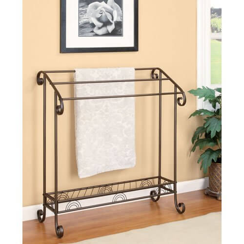 Metal (Bronze Finish) 3-Bar Quilt Stand