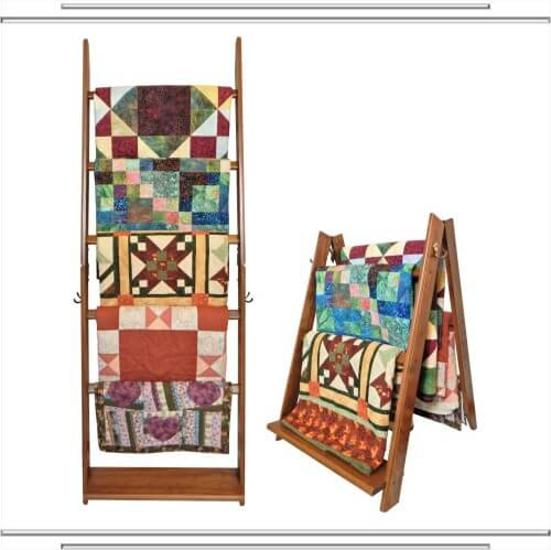 The Freestanding Ladder Rack Quilt Stand