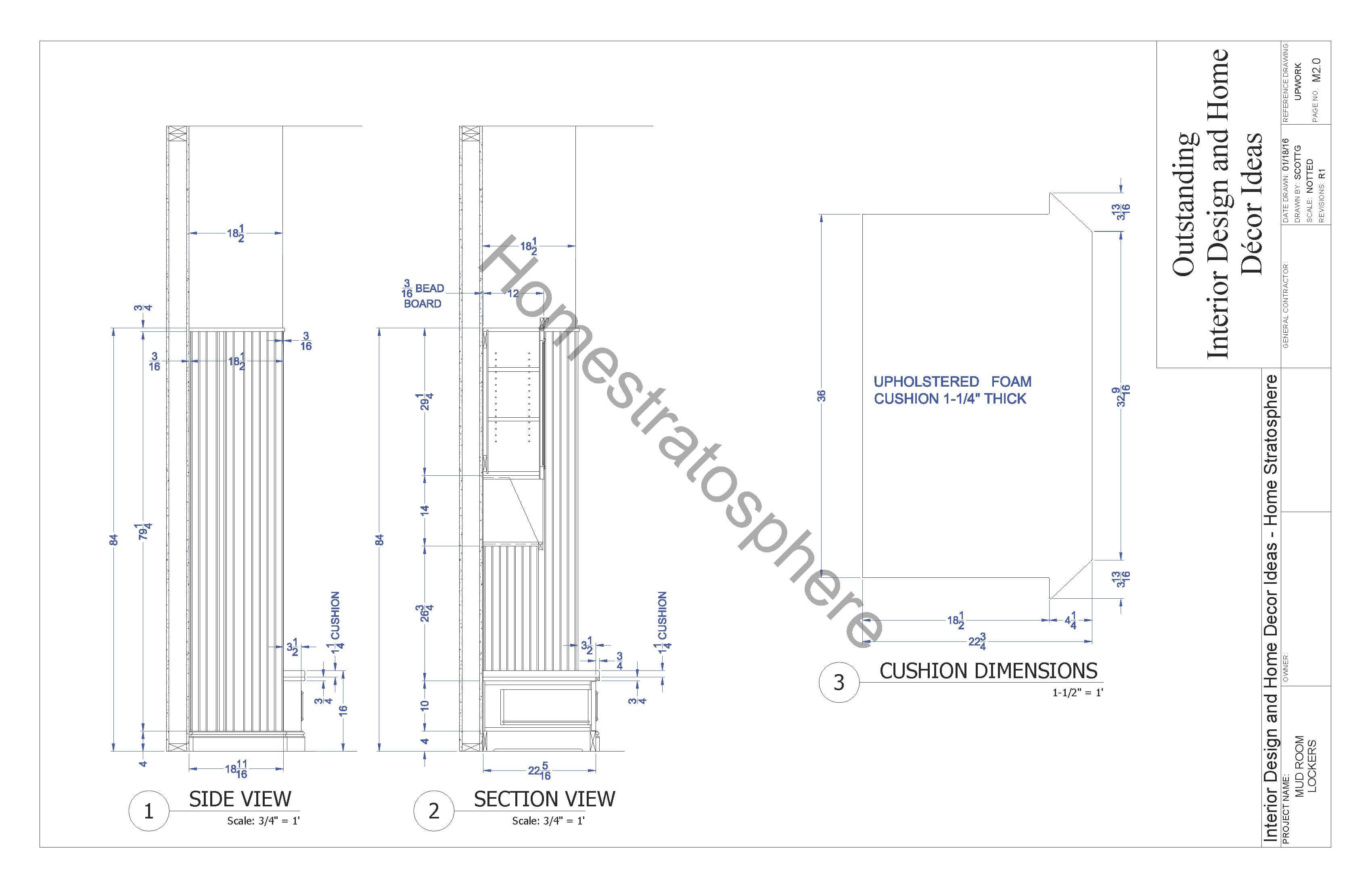 Mudroom Locker Design Blueprint