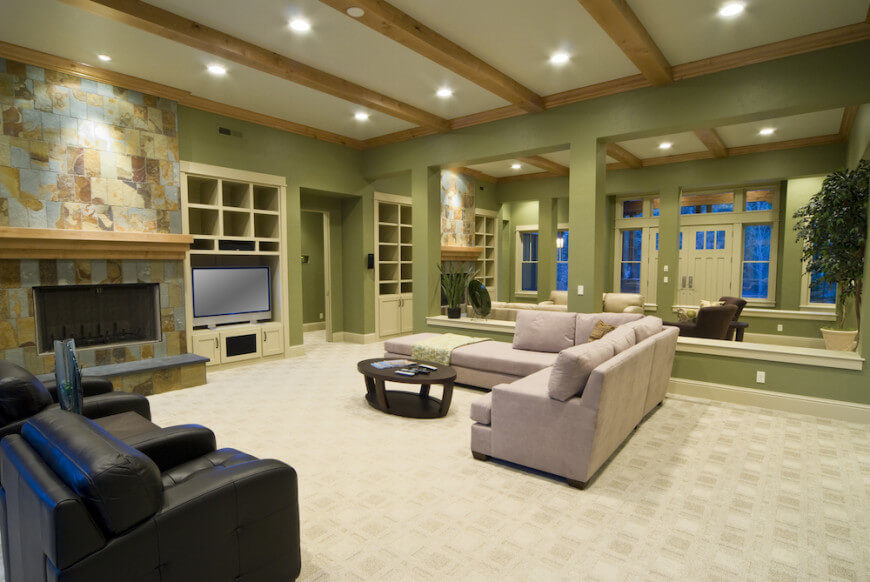 There are so many kinds of carpet. There is a carpet out there that is perfect for whatever style that you decide on. Carpet is a soft and warm option for any living room.