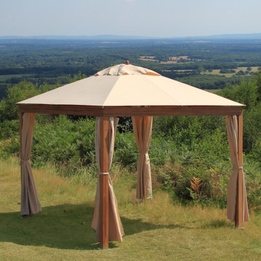 Here Is A Simple Wood And Canvas Portable Pavilion. This Is A Great Pavilion  For