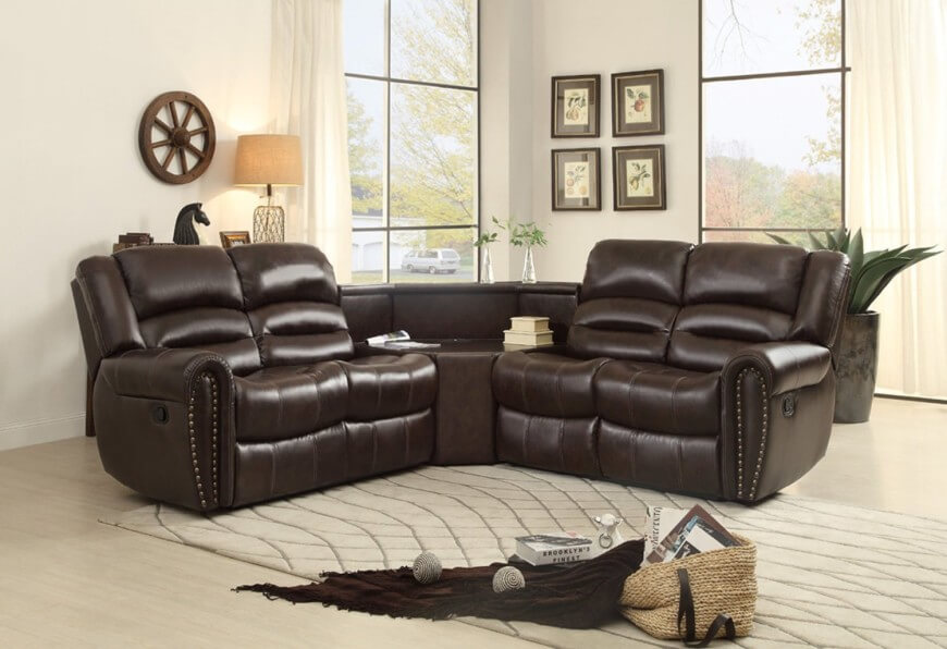 top 10 best reclining sofas 2019 rh homestratosphere com small l shaped sectional sofa with recliner small leather sectional sofa with recliner